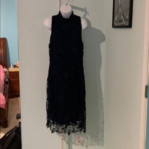 Ralph Lauren Size 14 Navy Lace Dress below knee